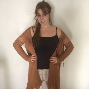 Daytrip Brown Knitted Cardigan